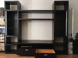 Nick Scali TV cabinet entertainment unit with storage cabinets St Kilda Port Phillip Preview