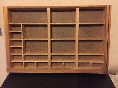 Vintage Wooden Printers Type Cases They Look Unused Very Clean Sturdy