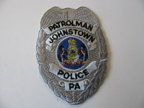 "Johnstown PA Penn  Police Dept Patch Badge Shield 2"" Logo Rare Iron On Patrolman"