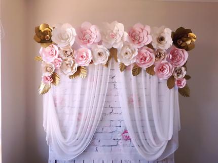 Beautiful flower wall winter sale 100 only party hire gumtree paper flower wall hire mightylinksfo