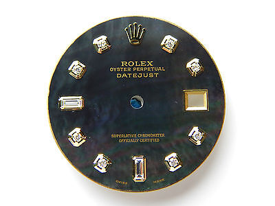 2 Tone Pan - Men's Rolex Datejust 2Tone Non-Quickset Pie Pan 1601 Black MOP with 8+2 Diamond