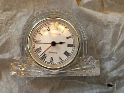 Shannon By Godinger Fine Crystal Mantle Clock Quartz
