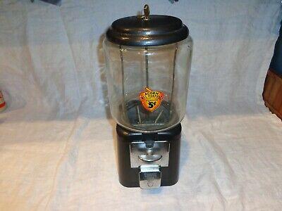 Vintage Acorn All Purpose 5 cent Gumball, Peanut, Nut Vending Machine Dispenser