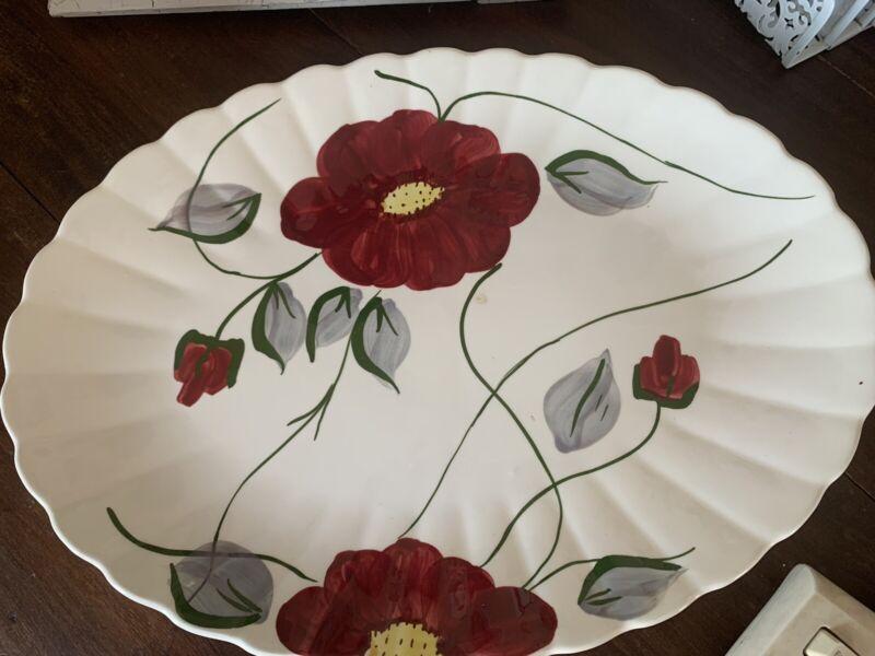 "Blue Ridge Southern Potteries ""Becky"" Platter 15.5 x 11.25  Hand Painted"