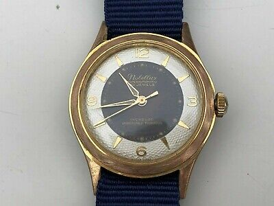 RARE Vintage Mens Swiss Nobellux Watch 30 Jewels Automatic RUNS WELL