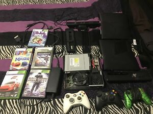 Xbox 360 rebuilt with games cheap and kinnects