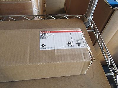 NIB WIREMOLD V2400C RACEWAY COVER 2400 SERIES STEEL IVORY 100 FT  (5FT SECTIONS) for sale  Rochester
