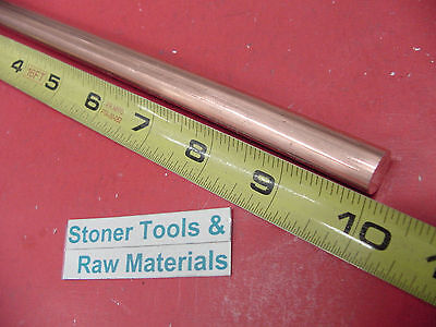 12 C110 Copper Round Rod 10 Long H04 Solid .50 Od Cu New Lathe Bar Stock