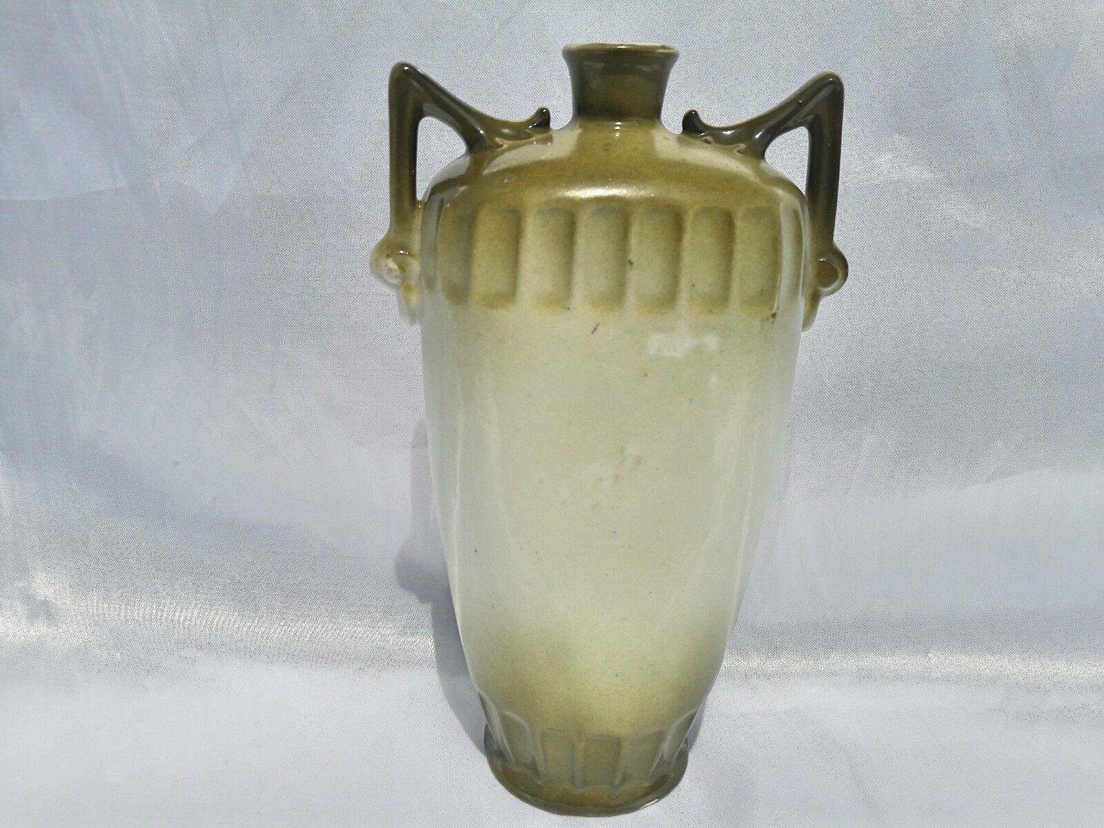 """Vintage Art Nouveau 8"""" Amphora Style Vase C/1920's Austria"""