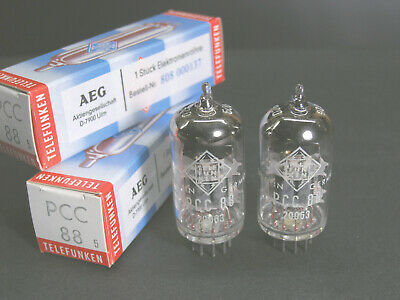 PCC88 Telefunken -Matched Pair NOS vintage '70 electron tubes (~6DJ8-7DJ8-6922)  for sale  Shipping to South Africa