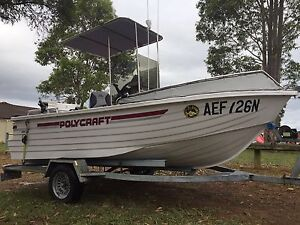 Boat 2005 polycraft 4.55 with 2005 johnson 50hp oil injection Campbelltown Campbelltown Area Preview