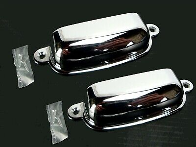 """(2 pcs.) 3-5/8"""" CHROME Cabinet or Drawer PULL HANDLE (Polished Chrome)"""