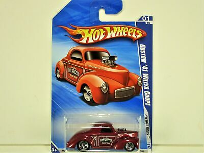 HOT WHEELS 2010 CUSTOM 1941 WILLYS COUPE SPEED SHOP GRAPHICS NEW IN PACKAGE