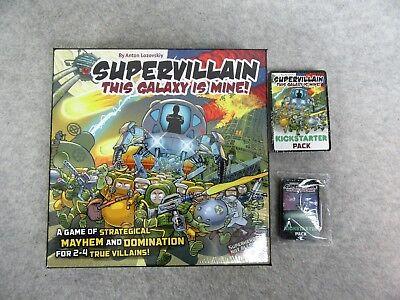Supervillain This Galaxy Is Mine Card Game Anton Lozovskiy Kickstarter Version