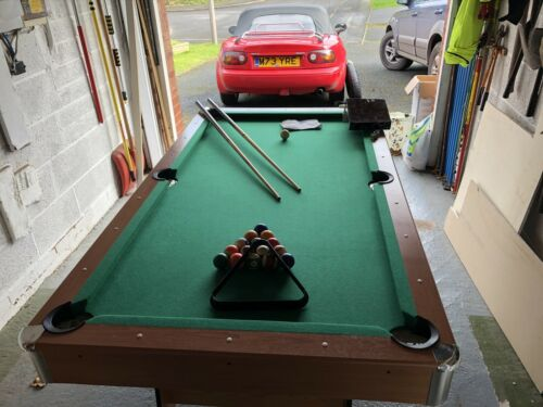 6ft Folding Pool table with Balls, Cues, Chalk Ready To Go - Buy It Now.