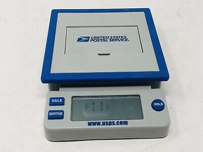 Usps Postal Service 10 Lb Digital Shipping Scale Blue Gray - Tested And Works