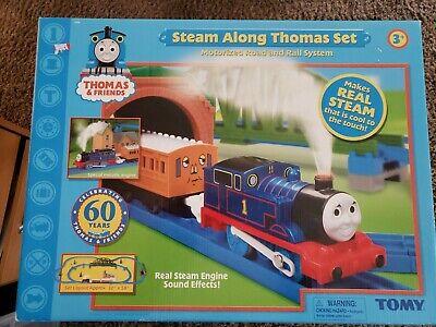 STEAM ALONG THOMAS SET THOMAS & FRIENDS TRAIN SET TOMY 2005 60 YEARS NEW IN BOX