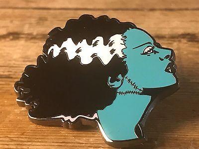 Bride of Frankenstein Hard Enamel Pin Horror B-Movie Monster Lapel Sally Makeup