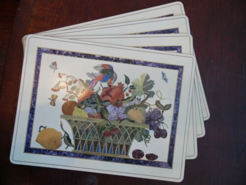 Pimpernel 4 Pc Place Setting Placemats Dining Kitchen Cork Board Back England