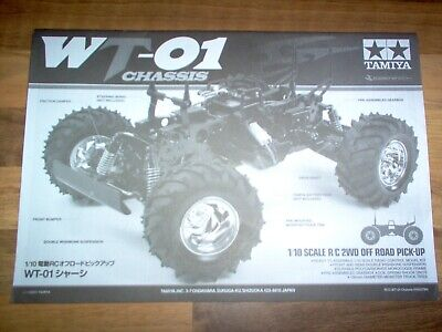 Manual 1:10 RC / Tamiya WT-01 Chassis Monster / Plan - Instruction - Book / Neuf