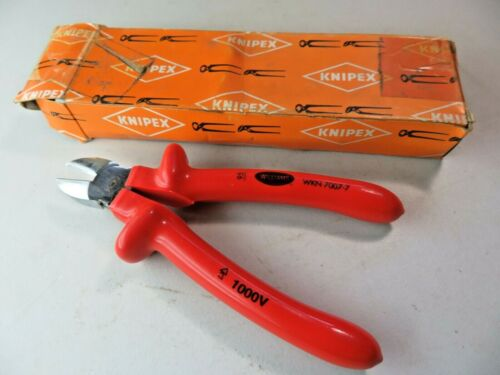 """KNIPEX 7"""" Diagonal Cutter 1000V insulated WKN7007-7 Williams NOS"""