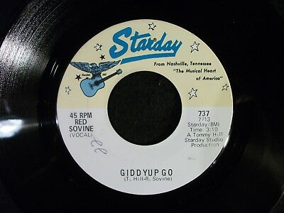 Giddyup Go/Kiss And The Keys by Red Sovine (Starday 737) Very Rare Unique Label  - Giddy Up And Go
