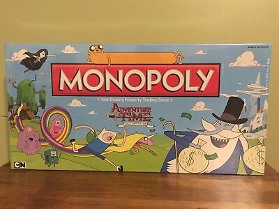 New  Adventure Time Monopoly Collectors Edition Board Game Sealed