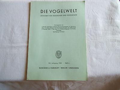 Zeitschrift: Die Vogelwelt. Heft 4 - 1980