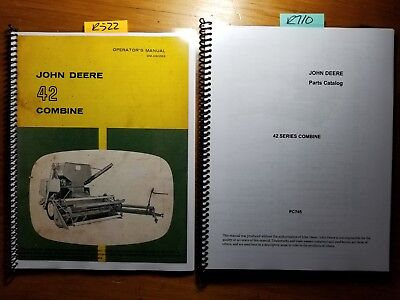 John Deere 42 Combine Sn 4001- Owner Operator Manual 1163 Parts Catalog 268