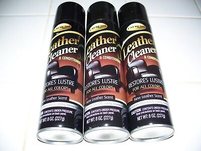 LOT OF 3 EXFRESH  LEATHER CLEANER & CONDITIONER EACH 8 OZ NEW LEATHER SCENT!