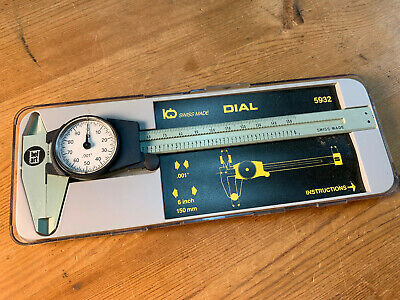 Belart Dial Caliper .001 Dial Type 5932 With Instructions Made In Switzerland