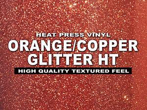 "12""x20"" ORANGE/COPPER Glitter Heat Press thermal transfer ..."