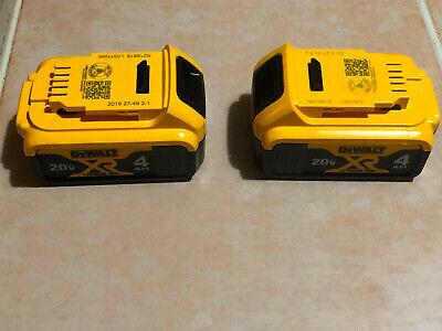 NEW - 2019- DEWALT 20v MAX XR Li-Ion Premium Battery Pack 4.0Ah 2-Pack DCB204-2