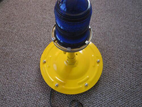 COBALT BLUE 120 volt  LED NAPLES FL MAN CAVE AIRPORT TAXIWAY LIGHT NEW GLOBE