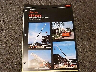 Link-belt Hsp-8055 Rough Terrain Crane Specification Lifting Capacities Manual