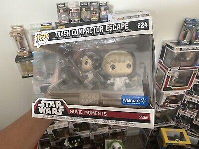 Funko Pop Star Wars Movie Moments #224 Trash Compactor Escape Luke and Leia #2