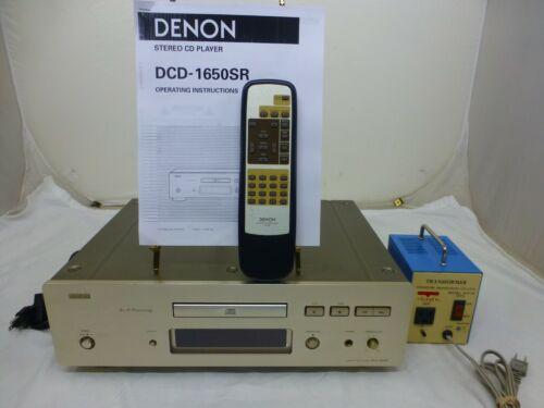 DENON DCD 1650SR CD Player AL 24 bit Processing - Original Remote - w/ Stepdown