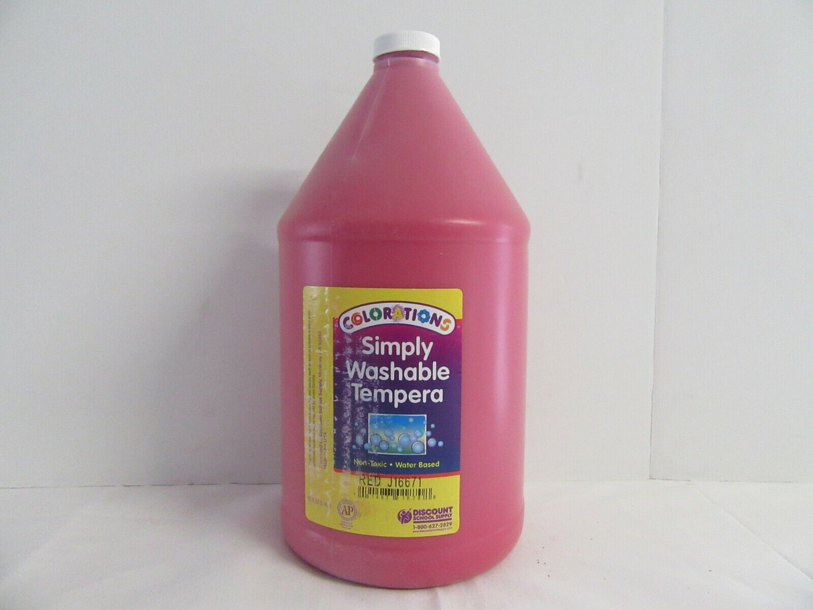 simply washable tempera paint 1 gallon red