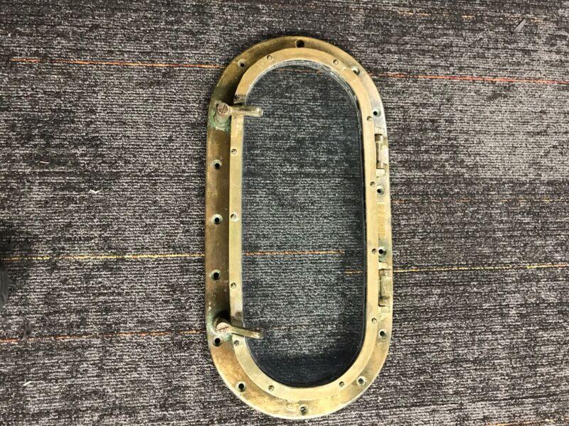 Brass porthole 11 x 22 With Glass