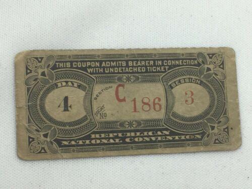 1892 Minneapolis B Harrison Republican National Convention Ticket Stub 26210