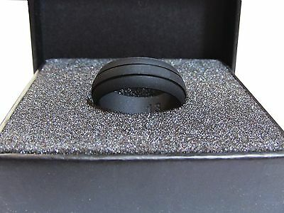 SILICONE MENS WEDDING RING BAND BLACK GROOVE SIZES 8-14 RUBB