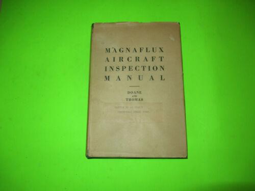 1943 MAGAFLUX AIRCRAFT INSPECTION MANUAL HARDCOVER BOOK / WW2 BETHLEHEM STEEL
