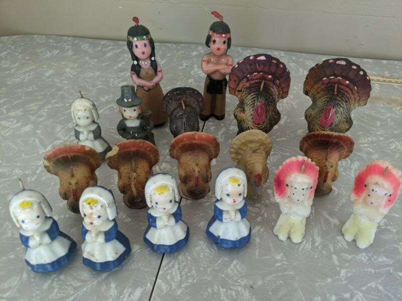 Vintage Thanksgiving Candles Lot