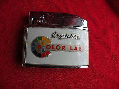 Vtg CRYSTALIKE Color Lab 35mm Film Processing Photography Cigarette Lighter Balb
