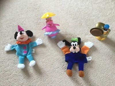 McDonalds Happy Meal Disneyland Paris Donald Hippo puppet Minnie Goofy 2001
