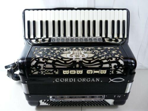 Accordion Cordi Organ T IV Made In Italy Black Alberto Morbidoni Castelfidardo