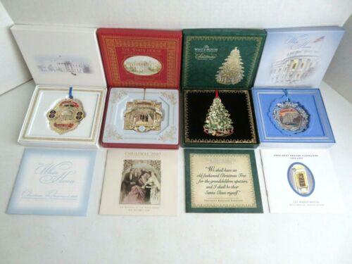 2006-2009  4 White House Historical Association Christmas Ornaments 1st Wedding