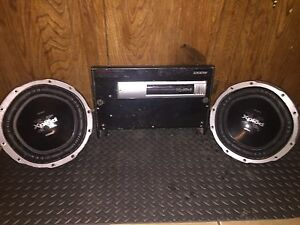 "2 10"" subs and amp"