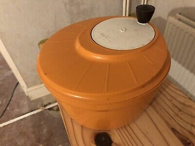 MOULINEX Salad Spinner Dryer Burnt Orange Retro Vintage 70s Made In France