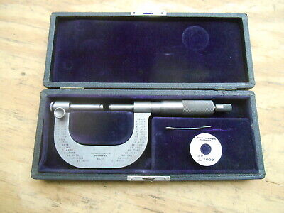 Antique Brown Sharpe No. 30 Adjustable Anvil Micrometer 0 - 2 .001